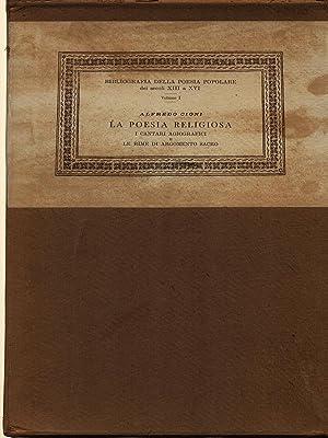 La poesia religiosa: Cioni, Alfredo