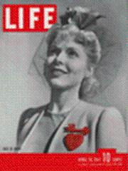 Life Magazine 28 April 1941 Vera Gilmer w/red heart 4/28/41