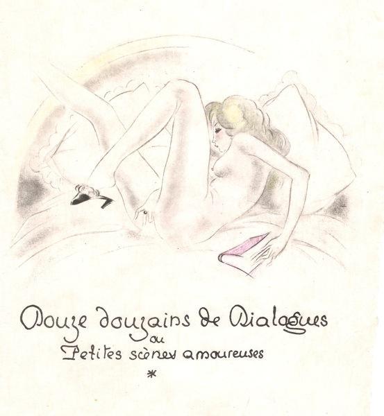 Douze Douzains De Dialogues Ou Petites Scènes Amoureuses: [LOUYS, Pierre] [illus. COLLOT, ...