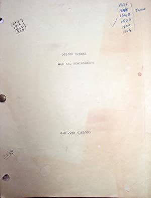War And Remembrance: Gielgud's Working Script