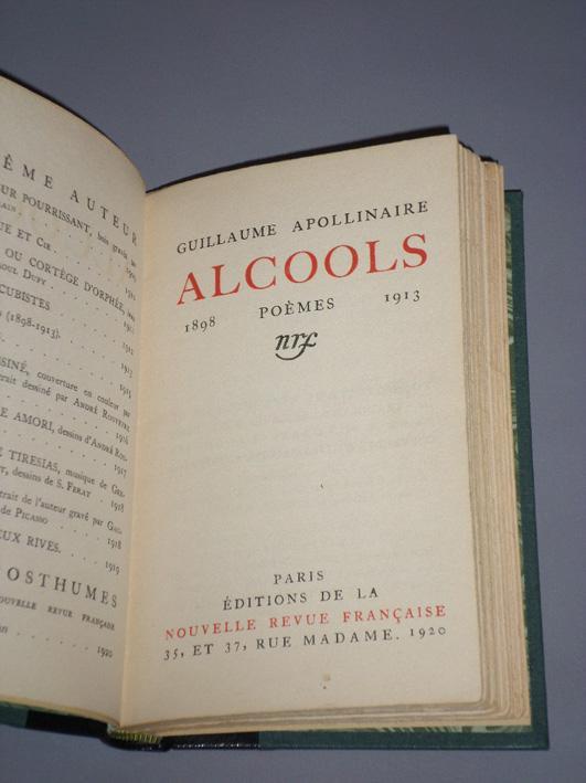 Alcools Poèmes 1898 1913 De Apollinaire Guillaume Nrf