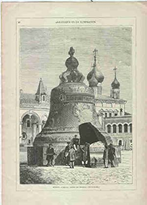MOSCOU. CAMPANA GRANDE DEL KREMLIN. Grabado original: GARRIDO, Antonio