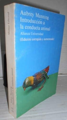 INTRODUCCIÓN A LA CONDUCTA ANIMAL. 2ª edición: MANNING, Aubrey