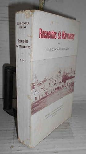 RECUERDOS DE MARRUECOS, por. 1ª edición, rara: CANSINO ROLDÁN, Luis