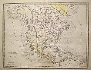 AMÉRICA SEPTENTRIONAL. MAPA. Litografía original: PALUZIE Y CANTALOZELLA,