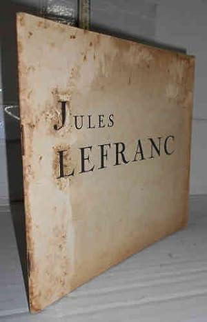 JULES LEFRANC, portrait par. Comentario final por: DAUSSY, Raymond