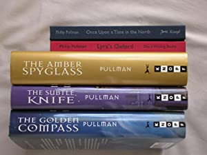 5 Book signed hc/dj Set: His Dark Materials Set: The Golden Compass, The Subtle Knife, The Amber ...