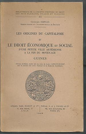Les Origines du Capitalisme IV. Le droit économique et social d'une petite ville art&...