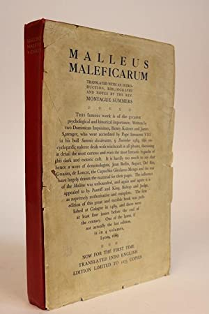 Malleus Maleficarum. Translated with an Introduction, Biography,: Kramer, Henry &