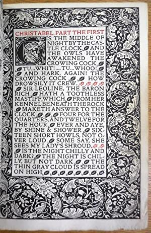 Poems chosen out of the Works of Samuel Taylor Coleridge.: Kelmscott Press] Coleridge, Samuel ...