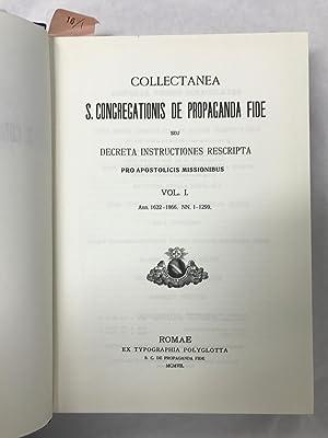 De propaganda fida.: Collectanea, S. C.