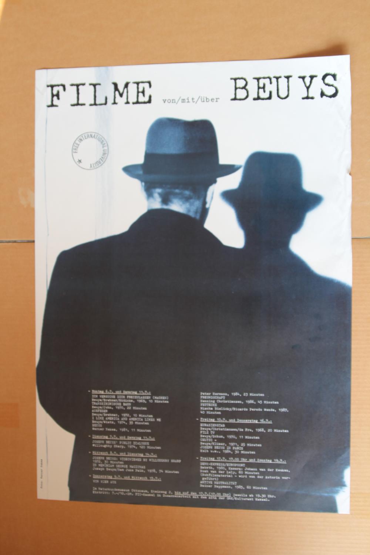 Ausstellungsplakat Filme von/mit/über Beuys