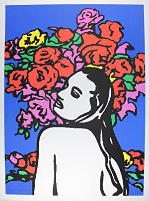 Love and Flowers Farblithografie 2009, handsigniert, datiert,: George Pusenkoff 1953