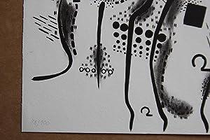 Peter Brüning Höhenlinien Lithografie, handsigniert, nummeriert, datiert: Peter Brüning