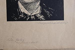 Originalholschnitt edvard grieg bezeichnet origin. Holzschnitt und handsigniert: Leopold Wächtler (...