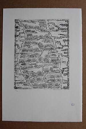 Coupe monnaie Lithografie Stempelsignatur, nummeriert 22/75: Zoltán Kemény (2.