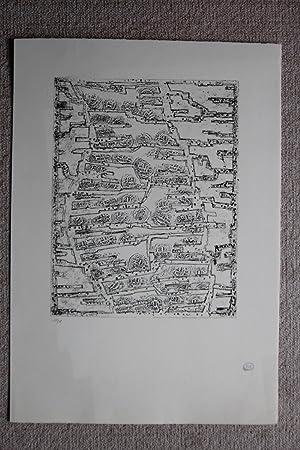 Coupe monnaie Lithografie Stempelsignatur, nummeriert 31/75: Zoltán Kemény