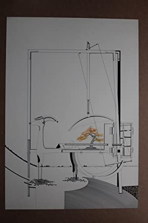 Mischtechnik, Tusche, Öl, Aquarell, auf festem Papier,: Nils Haglund 1939