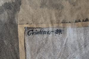 Original Komposition Mischtechnik auf Packpapier Aquarell, Kohle, Farbkreide auf Packpapier, ...