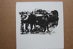 Das Tier Lithographie handsigniert , mittig bezeichnet,: Osmar Osten 1959