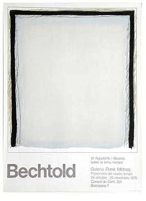 Farblithografie zur Ausstellung Galeria Rene Metras in: Erwin Bechtold 1925
