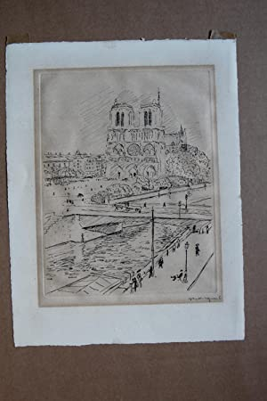 grafikNOTRE-DAME DE PARIS et le quai Saint: Albert Marquet27. März1875Bordeaux-14.