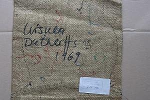 Mixed Media Stoffarbeit rückseititg signiert und datiert 1969: ursula dethleffs (1933 ...