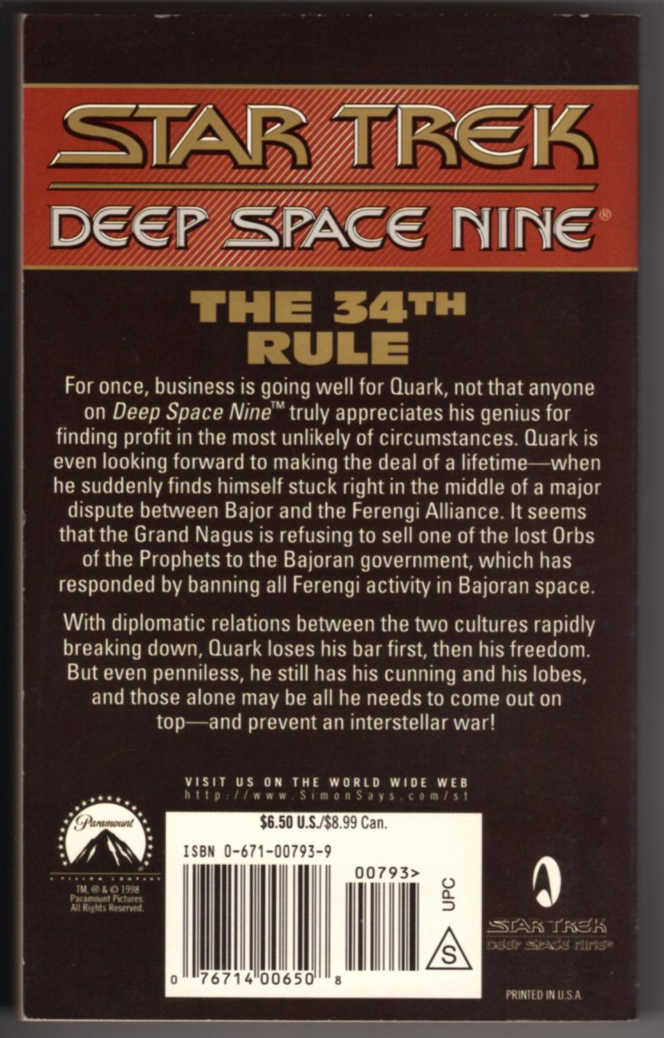 Ds9 #23 The 34th Rule