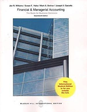Financial and Managerial Accounting (17th International Edition): Williams, Jan; Haka,
