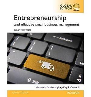 Entrepreneurship (11th Global Edition) - Brand New Paperback: Norman M. Scarborough, Jeffrey ...