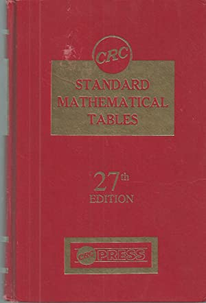 Crc Standard Mathematical Tables And Formulae, 27st Edition