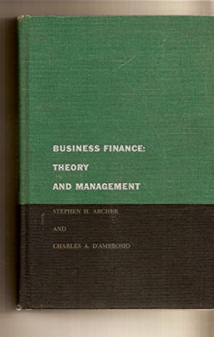 Business Finance: Theory And Mangement