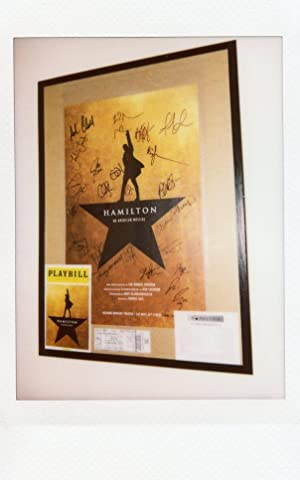 HAMILTON: An American Musical by Lin Manuel Miranda. POSTER SIGNED BY ORIGINAL ACTORS AND CAST ME...