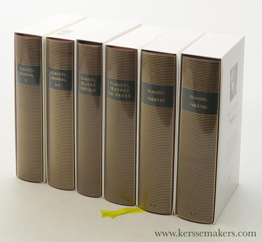 Journal, Oeuvre poétique, Oeuvres en prose & Théatre [ 6 volumes ]. - Claudel, Paul.