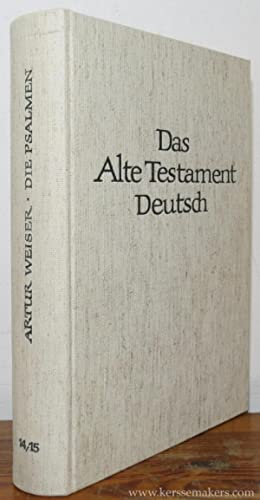 Die Psalmen. 8. Auflage. Mit Sachregister und Bibelstellenverzeichnis zum Gesamtband.: WEISER, ...