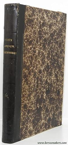 Index librorum prohibitorum Leonis XIII sum. pont.: ANONYM
