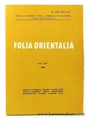 Folia Orientalia Vol. XXV 1988.: Kapera, Z. J.