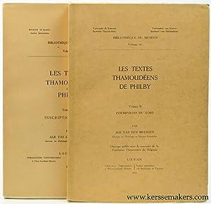 Les textes Thamoudéens de Philby. Volume I.: Branden, Alb. van