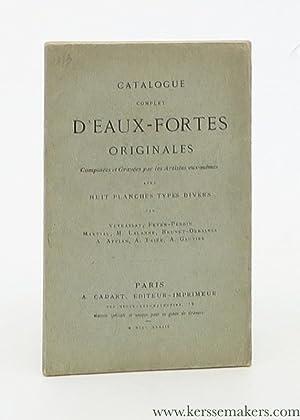 Catalogue complet d'eaux-fortes originales composées et gravées: A. Cadart, éditeur-imprimeur)