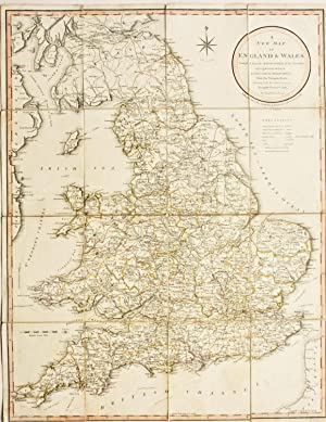 A New Map of England and Wales Compiled From the Actual Surveys of the Counties