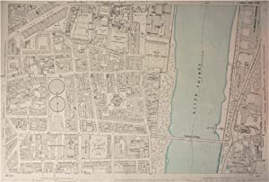 Ordnance Survey Large Scale Map of the Region around Part of Westminster and Lambeth Bridge: Edit...