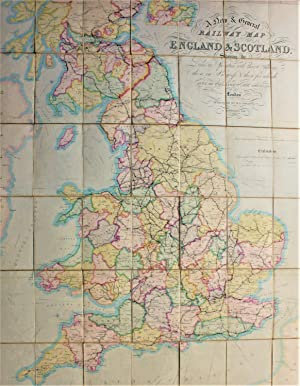 A New and General Railway Map of England and Scotland showing the Lines in Operation with their S...