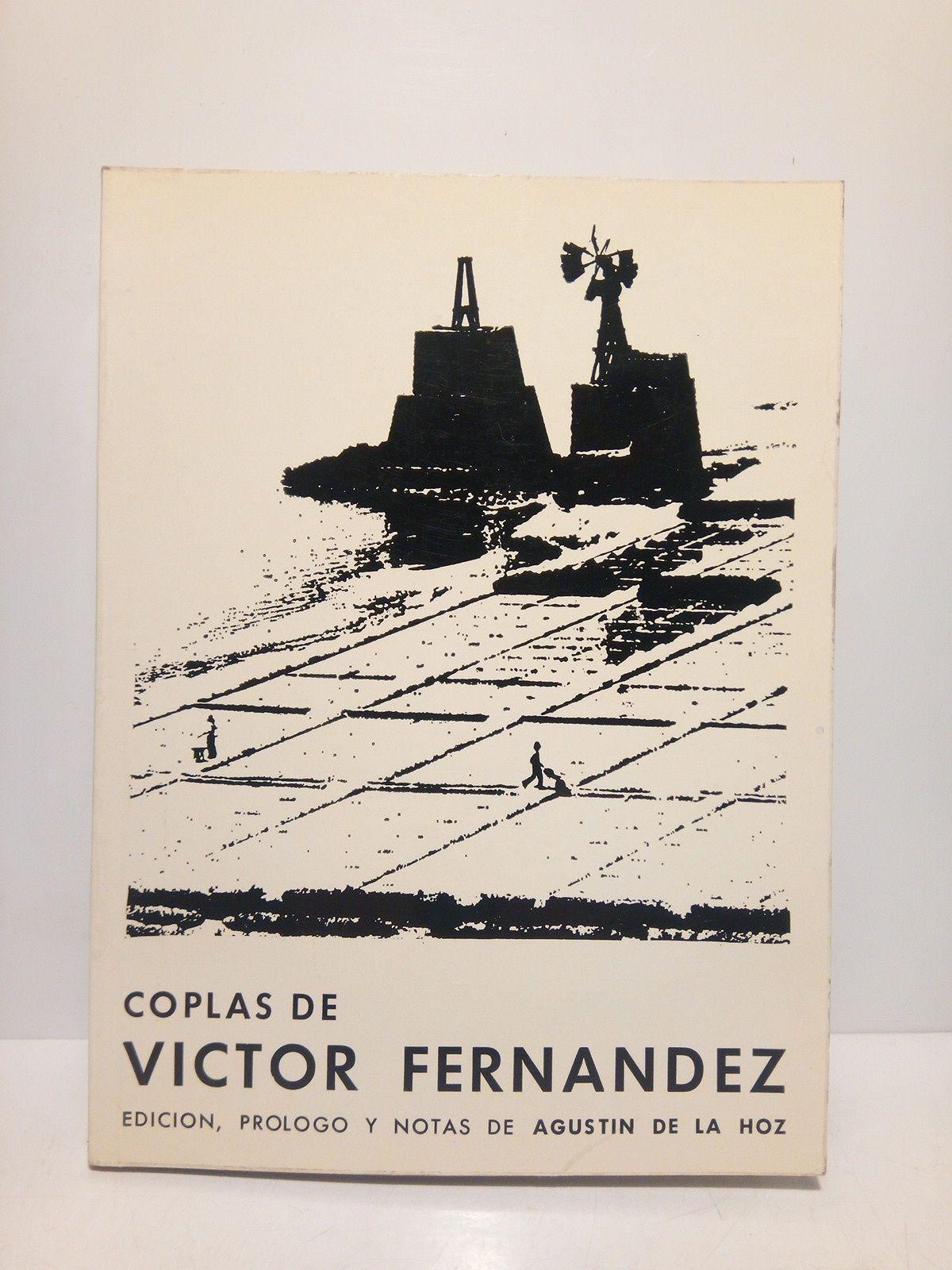 Coplas de Víctor Fernández / Edición, prólogo y notas de Agustín de la Hoz - FERNANDEZ, Víctor