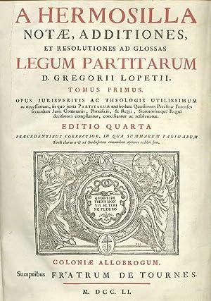 D. D. D. A Hermosilla Notae, additiones,: HERMOSILLA, Gasparis Patris