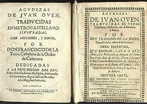 Tomo 1º]: Agudezas de Juan Oven / Traducidas en metro castellano, ilustradas con ...