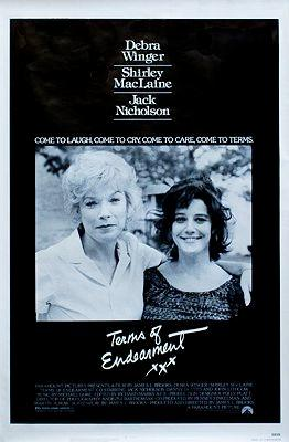 Terms of Endearment (MOVIE POSTER) N/A Very Good Original one-sheet movie poster, 27 x 41 , rolled. Mailed in a protective heavy-duty mailing tube. Excellent condition. Won Academy Award for Best Pic