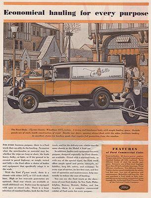 James Ford Of Williamson >> Orig Vintage Magazine Ad 1931 Ford Truck Ad