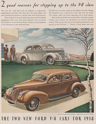 James Ford Of Williamson >> Orig Vintage 1938 Ford V 8 Car Ad