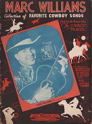 Marc Williams: Collection of Favorite Cowboy Songs