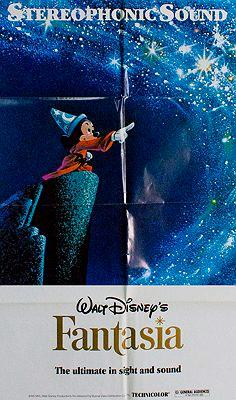 Walt Disney's Fantasia (MOVIE POSTER)